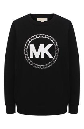 Женский хлопковый свитшот MICHAEL MICHAEL KORS черного цвета, арт. MH05MUXBDD | Фото 1