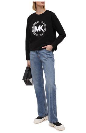 Женский хлопковый свитшот MICHAEL MICHAEL KORS черного цвета, арт. MH05MUXBDD | Фото 2