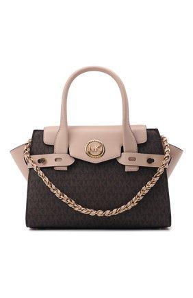 Женская сумка carmen MICHAEL MICHAEL KORS коричневого цвета, арт. 30S0GNMS1B   Фото 1