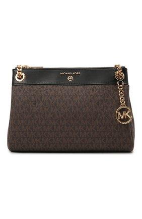 Женская сумка susan MICHAEL MICHAEL KORS коричневого цвета, арт. 30H9GUSL1B   Фото 1