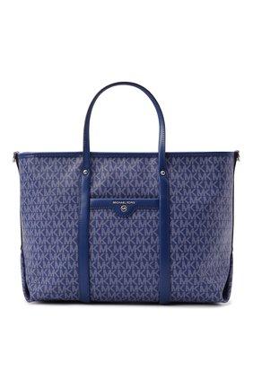 Женский сумка-тоут beck medium MICHAEL MICHAEL KORS синего цвета, арт. 30H0SKNT2B | Фото 1