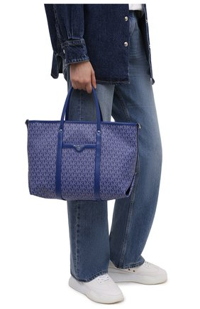 Женский сумка-тоут beck medium MICHAEL MICHAEL KORS синего цвета, арт. 30H0SKNT2B | Фото 2