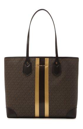Женский сумка-тоут eva MICHAEL MICHAEL KORS коричневого цвета, арт. 30H0GV0T3B   Фото 1