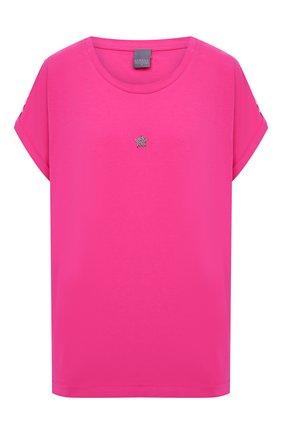 Женская хлопковая футболка LORENA ANTONIAZZI фуксия цвета, арт. P2155TS025/9999 | Фото 1