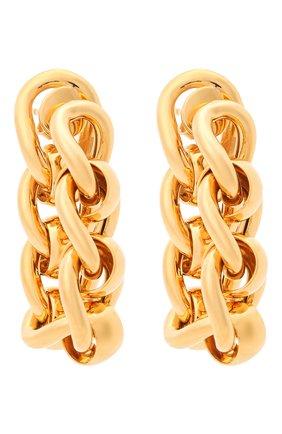 Женские серьги BOTTEGA VENETA золотого цвета, арт. 651137/VAHU0 | Фото 1 (Материал: Серебро)
