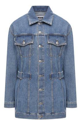 Женская джинсовая куртка MSGM синего цвета, арт. 3041MDH45L 217280   Фото 1