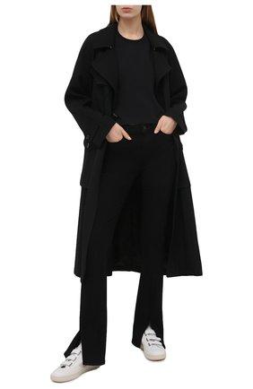 Женская хлопковая футболка MSGM черного цвета, арт. 3041MDM105 217298 | Фото 2