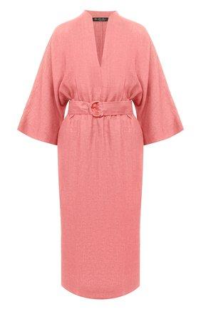 Женское льняное платье LORO PIANA розового цвета, арт. FAL1286 | Фото 1