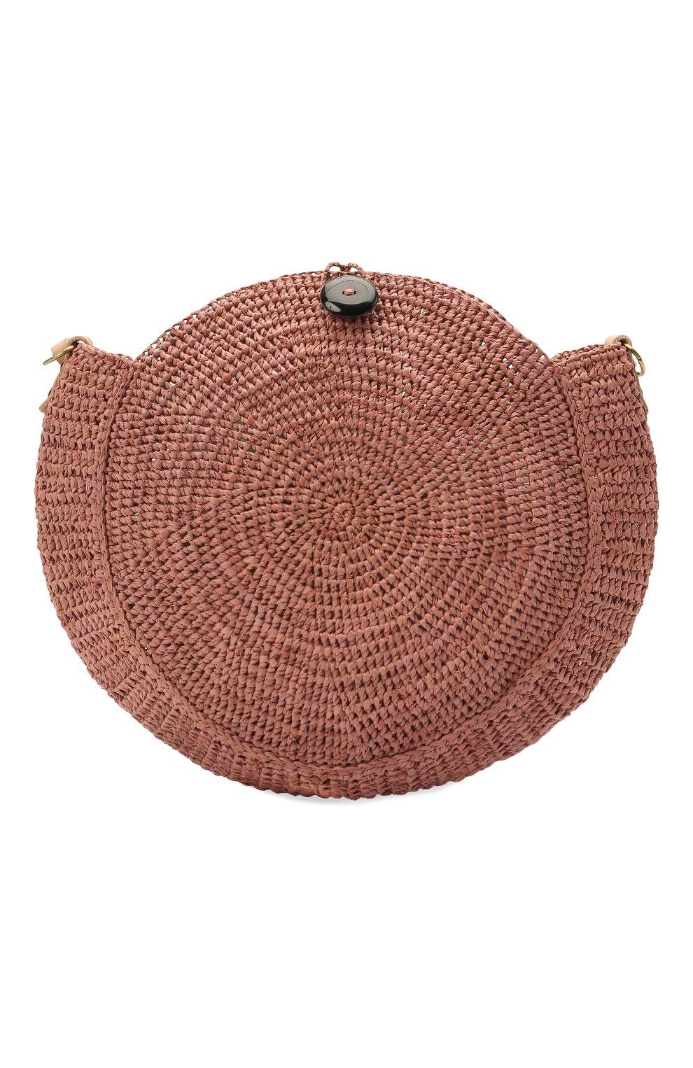 Женская сумка nova small SANS-ARCIDET коричневого цвета, арт. N0VA BAG MA-C S21/XS   Фото 1 (Сумки-технические: Сумки через плечо; Материал: Растительное волокно; Ремень/цепочка: На ремешке; Размер: small)