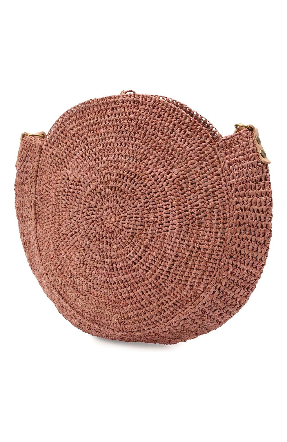 Женская сумка nova small SANS-ARCIDET коричневого цвета, арт. N0VA BAG MA-C S21/XS   Фото 3 (Сумки-технические: Сумки через плечо; Материал: Растительное волокно; Ремень/цепочка: На ремешке; Размер: small)