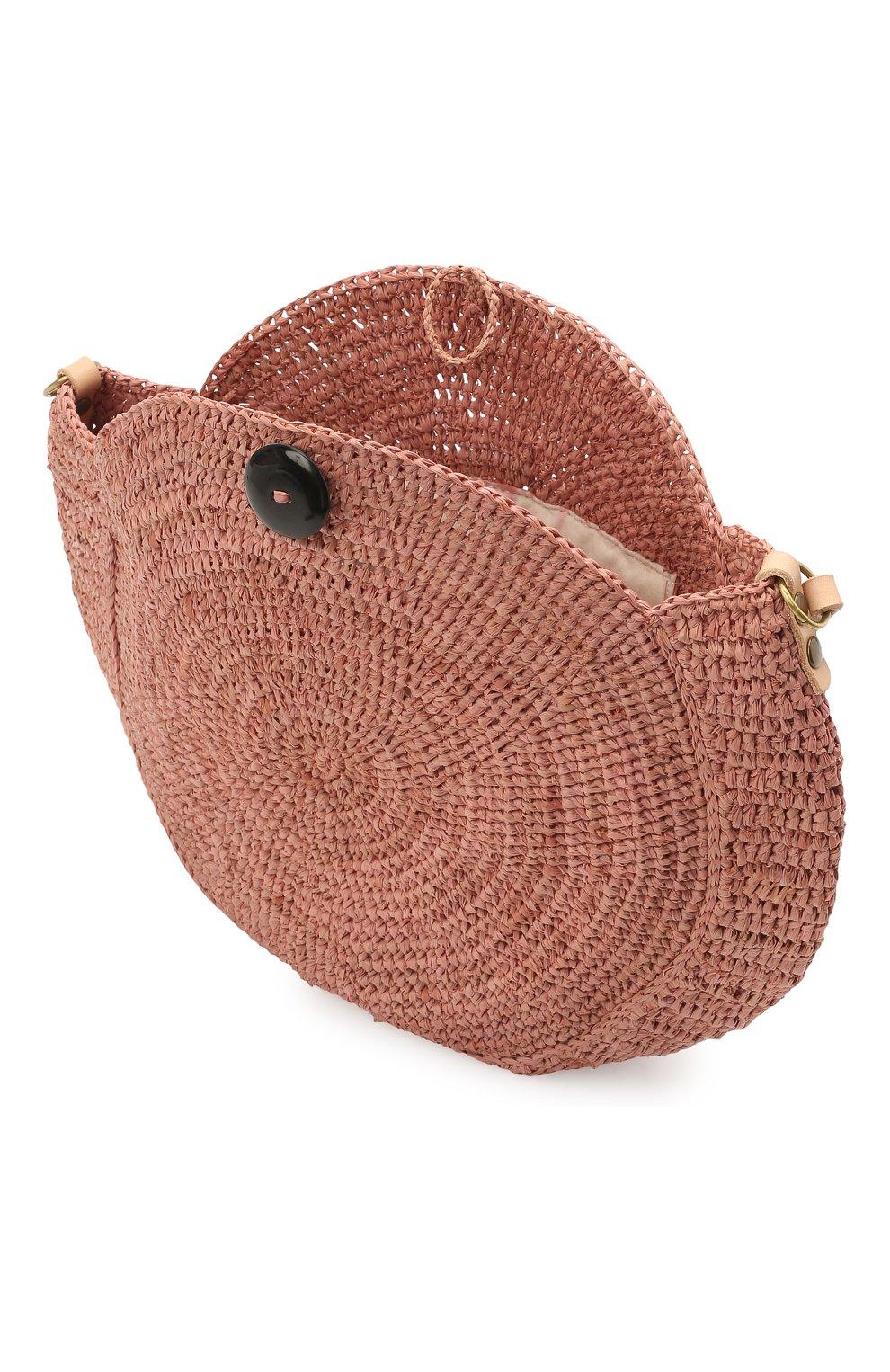 Женская сумка nova small SANS-ARCIDET коричневого цвета, арт. N0VA BAG MA-C S21/XS   Фото 4 (Сумки-технические: Сумки через плечо; Материал: Растительное волокно; Ремень/цепочка: На ремешке; Размер: small)