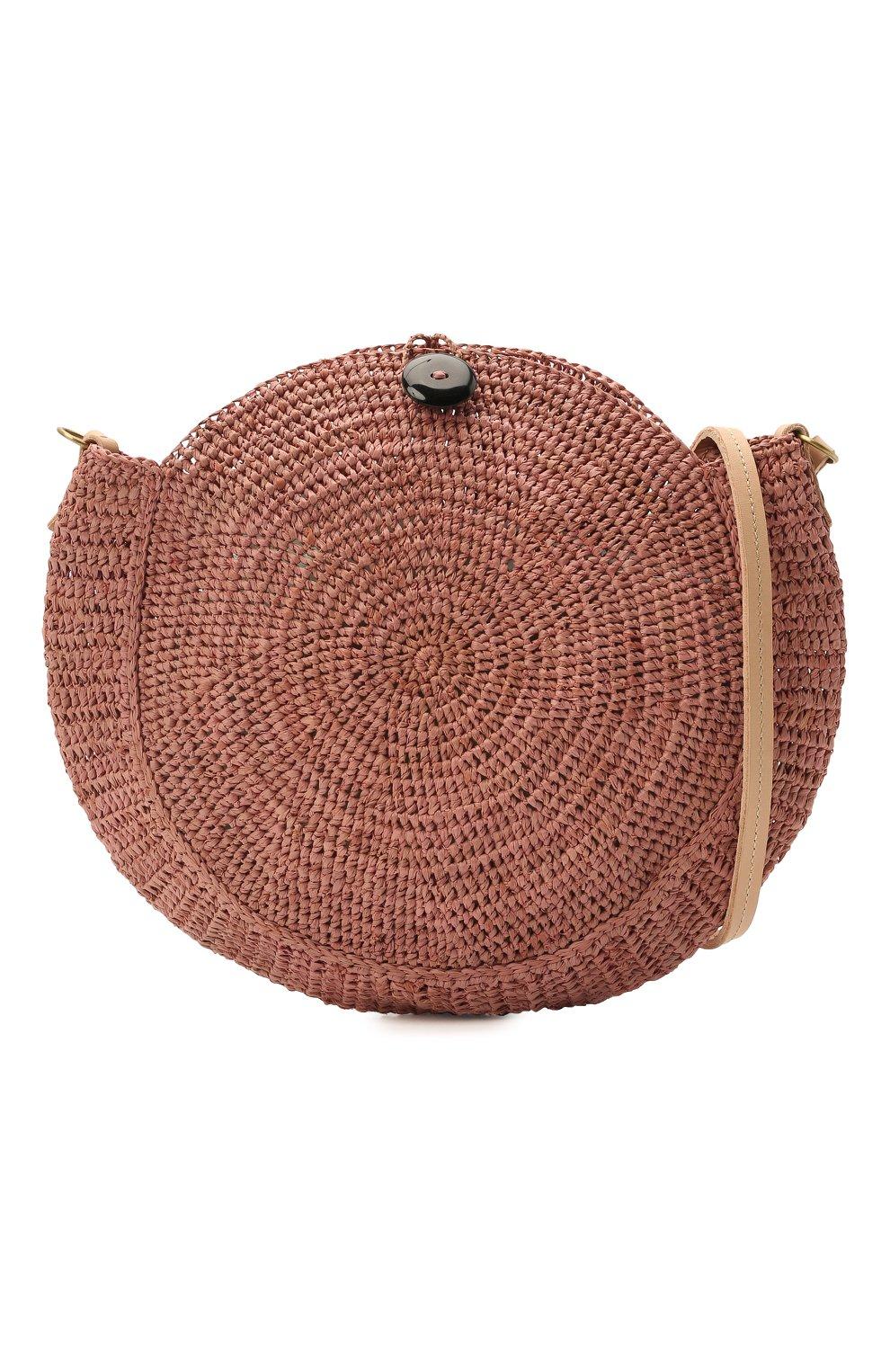 Женская сумка nova small SANS-ARCIDET коричневого цвета, арт. N0VA BAG MA-C S21/XS   Фото 5 (Сумки-технические: Сумки через плечо; Материал: Растительное волокно; Ремень/цепочка: На ремешке; Размер: small)