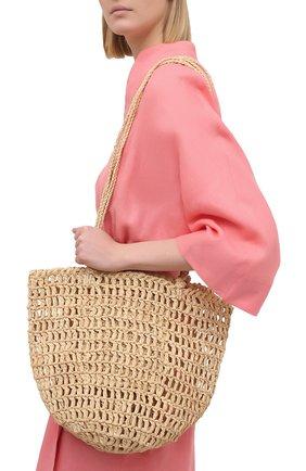 Женская сумка noosa medium SANS-ARCIDET бежевого цвета, арт. N00SA BAG S21/M   Фото 2