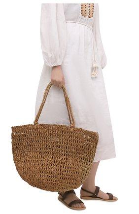 Женская сумка noosa large SANS-ARCIDET бежевого цвета, арт. N00SA BAG S21/L   Фото 2