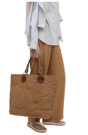 Женская сумка beby large SANS-ARCIDET бежевого цвета, арт. BEBY BAG MA-D S21/L   Фото 2