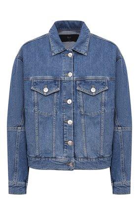 Женская джинсовая куртка 3X1 голубого цвета, арт. WJ0071079/LIGHT BLUE | Фото 1