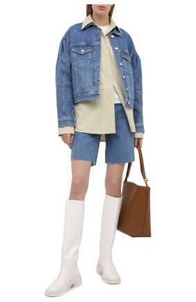 Женская джинсовая куртка 3X1 голубого цвета, арт. WJ0071079/LIGHT BLUE | Фото 2