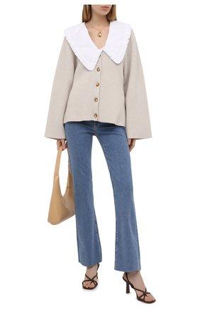 Женские джинсы 3X1 голубого цвета, арт. WX1121093/LIGHT BLUE | Фото 2
