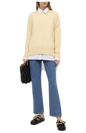 Женские джинсы 3X1 голубого цвета, арт. WX109866/LIGHT BLUE | Фото 2