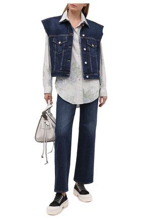 Женские джинсы 3X1 синего цвета, арт. WX1081095/BRIGHTST0NE | Фото 2