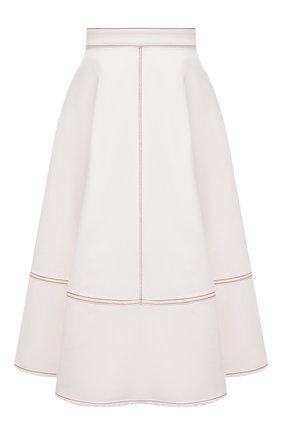 Женская хлопковая юбка ALEXANDER MCQUEEN белого цвета, арт. 646543/QMAA9 | Фото 1