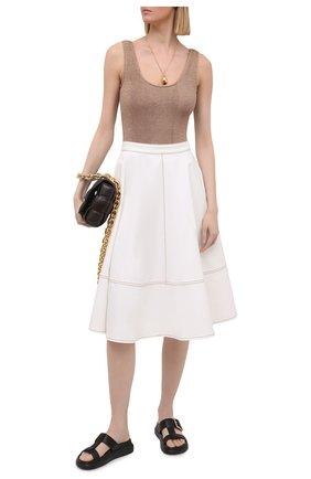 Женская хлопковая юбка ALEXANDER MCQUEEN белого цвета, арт. 646543/QMAA9 | Фото 2