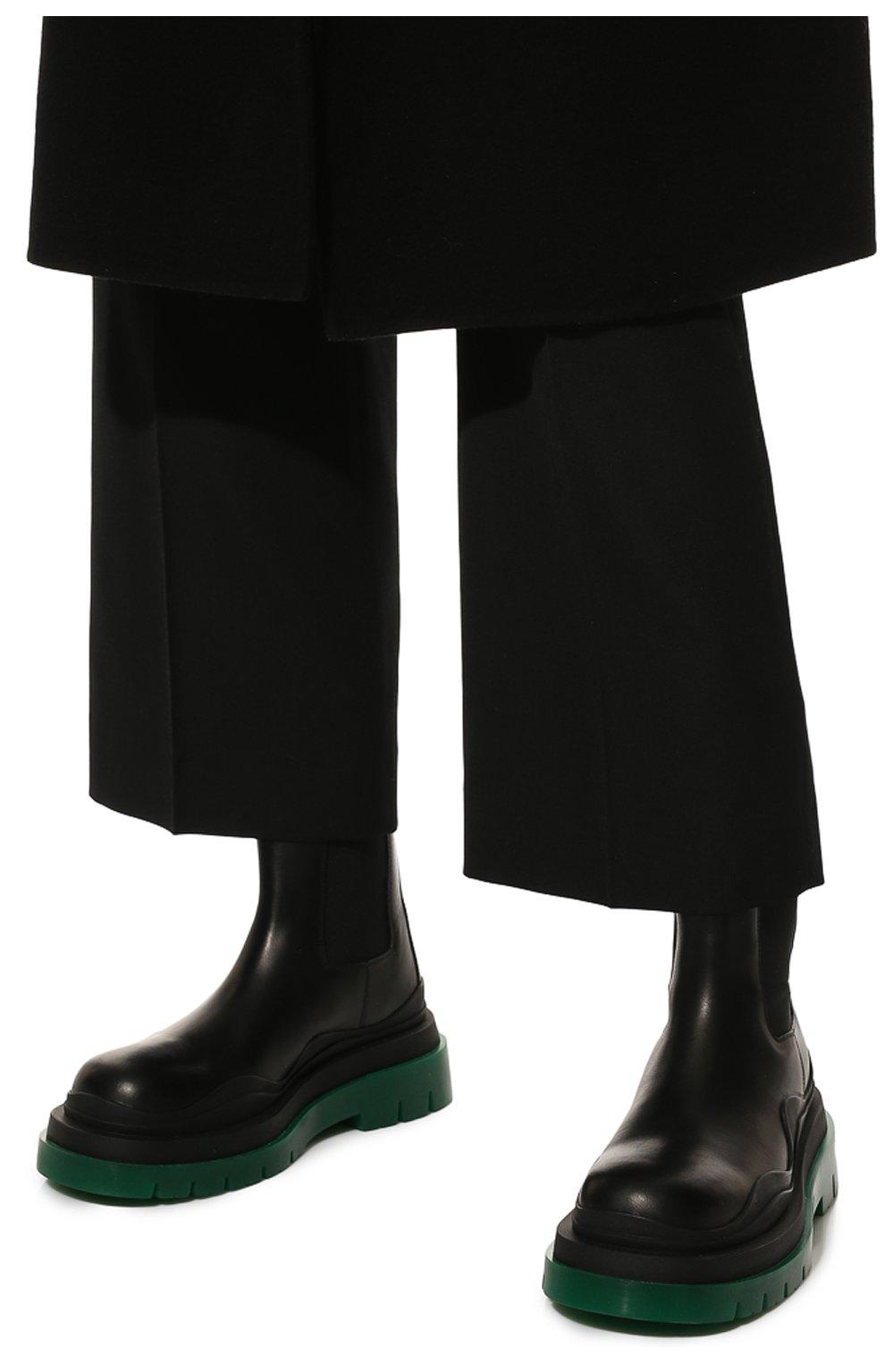 Женские кожаные ботинки bv tire BOTTEGA VENETA черного цвета, арт. 630297/VBS50 | Фото 3