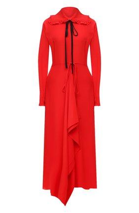 Женское шелковое платье VICTORIA BECKHAM красного цвета, арт. 1121WDR002283A | Фото 1