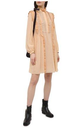 Женское шелковое платье CHLOÉ розового цвета, арт. CHC21SR010340 | Фото 2