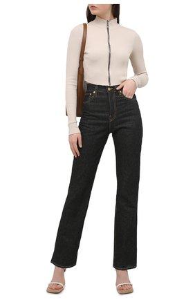 Женские джинсы JACQUEMUS темно-синего цвета, арт. 211DE01/123390 | Фото 2
