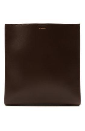 Женская сумка tangle JIL SANDER темно-коричневого цвета, арт. JSPS853172-WSB69148N | Фото 1