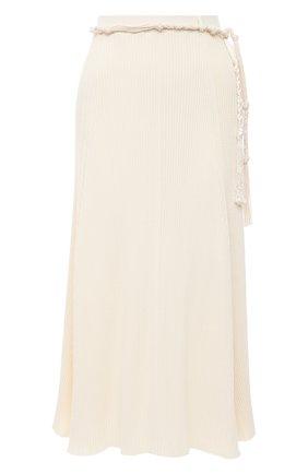 Женская хлопковая юбка JIL SANDER кремвого цвета, арт. JSPS759057-WSY24268 | Фото 1