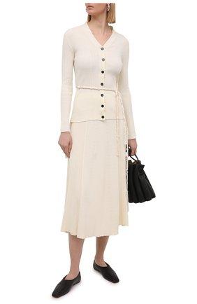 Женская хлопковая юбка JIL SANDER кремвого цвета, арт. JSPS759057-WSY24268 | Фото 2