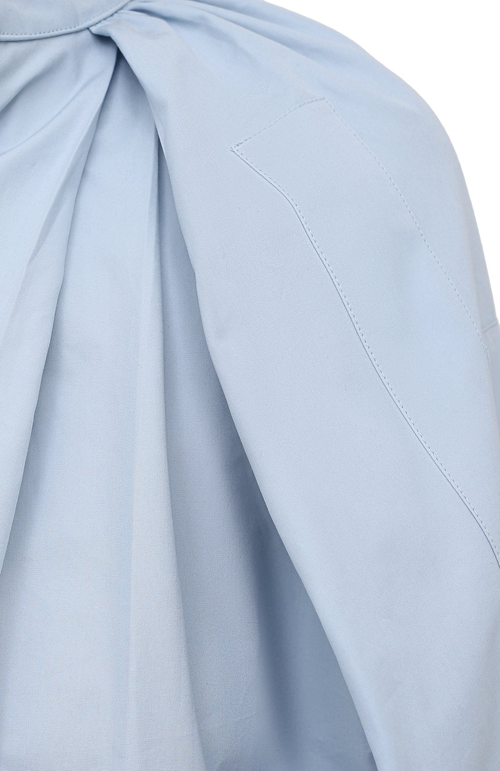 Женская хлопковая блузка JIL SANDER голубого цвета, арт. JSPS561306-WS244200 | Фото 5