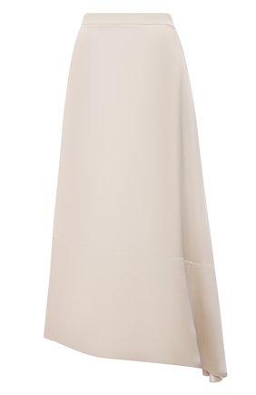 Женская юбка из вискозы JIL SANDER кремвого цвета, арт. JSPS351006-WS380800 | Фото 1