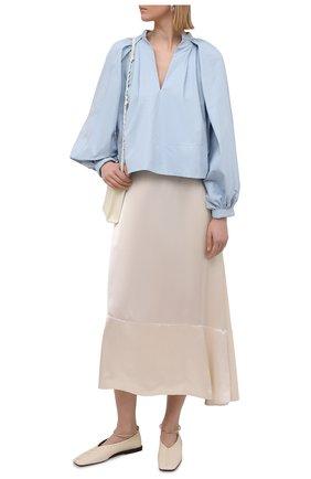 Женская юбка из вискозы JIL SANDER кремвого цвета, арт. JSPS351006-WS380800 | Фото 2