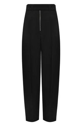 Женские брюки из вискозы и шелка JIL SANDER черного цвета, арт. JSPS311205-WS390300   Фото 1