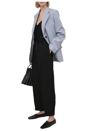Женские брюки из вискозы и шелка JIL SANDER черного цвета, арт. JSPS311205-WS390300   Фото 2