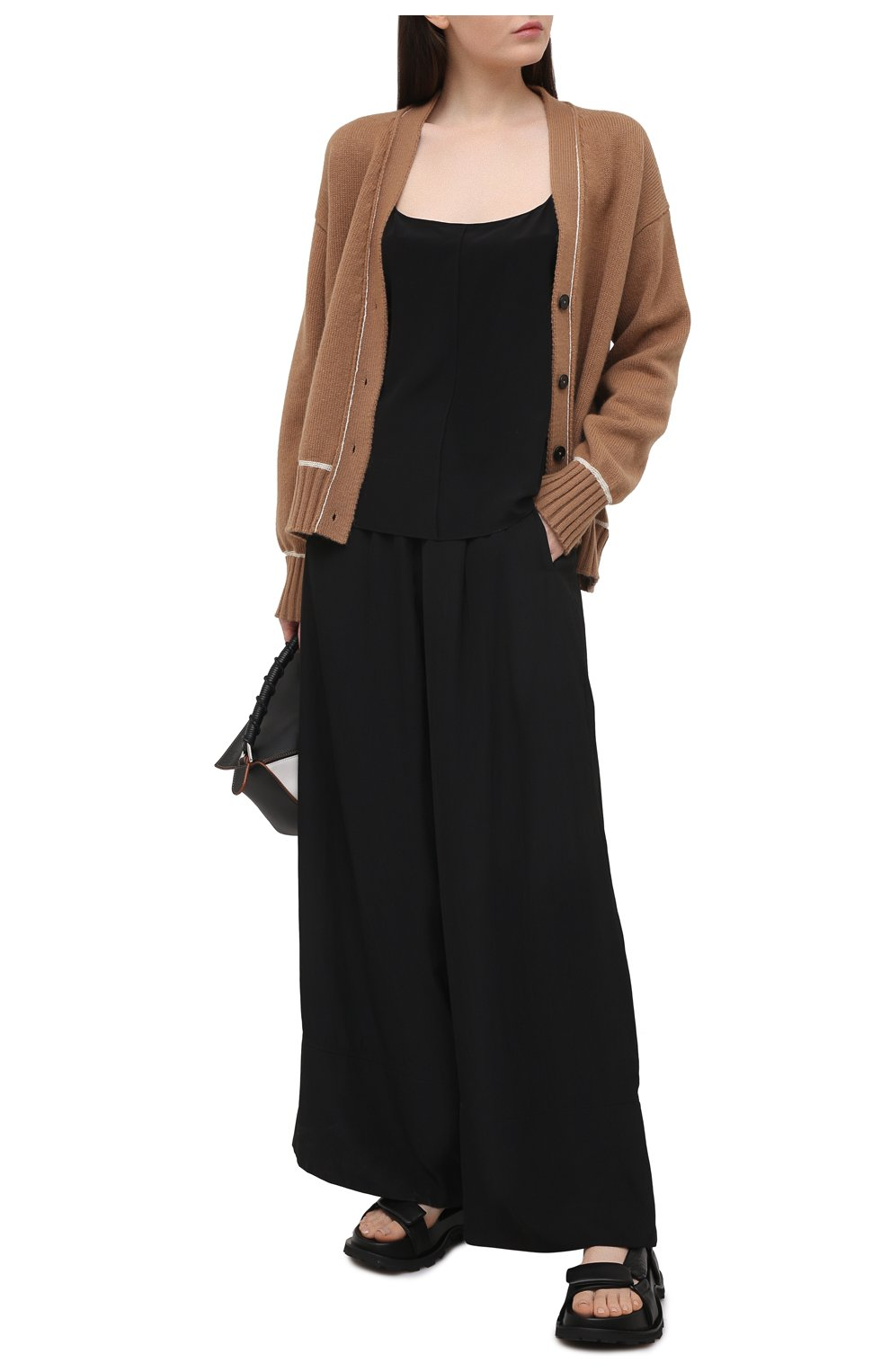 Женские кожаные сандалии JIL SANDER черного цвета, арт. JS36045A-13011 | Фото 2 (Подошва: Платформа; Каблук высота: Низкий; Материал внутренний: Натуральная кожа)