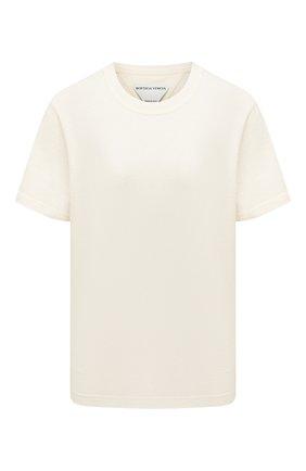 Женская хлопковая футболка BOTTEGA VENETA белого цвета, арт. 649060/VF1U0 | Фото 1