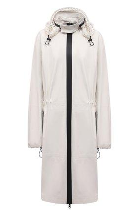 Женский кожаный плащ BOTTEGA VENETA белого цвета, арт. 652781/VKVL0 | Фото 1