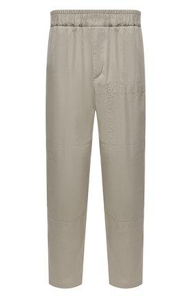 Мужские хлопковые брюки JIL SANDER серого цвета, арт. JSMS312018-MS243800 | Фото 1