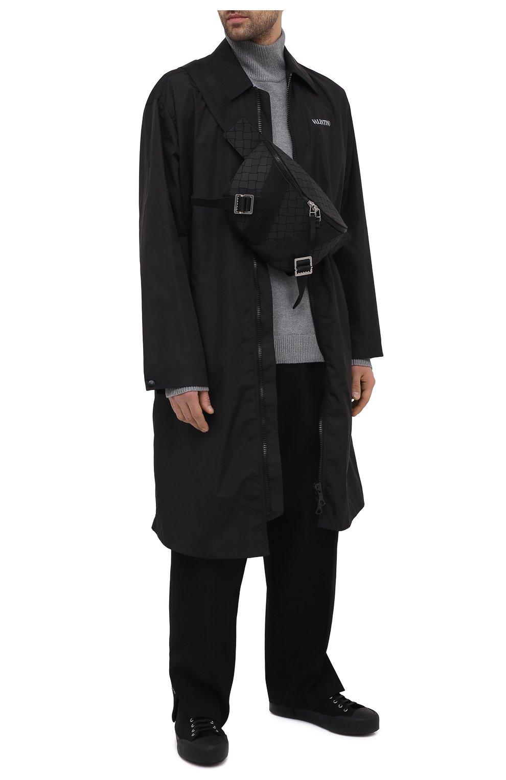 Мужские текстильные кеды JIL SANDER черного цвета, арт. JI35545B-13173 | Фото 2 (Материал внешний: Текстиль; Материал внутренний: Натуральная кожа; Подошва: Массивная)