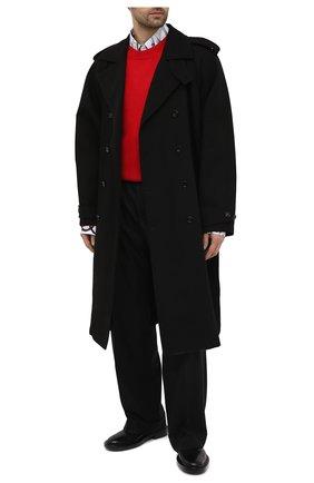 Мужские кожаные дерби JIL SANDER черного цвета, арт. JI36501A-13110   Фото 2 (Материал внутренний: Натуральная кожа; Стили: Классический)