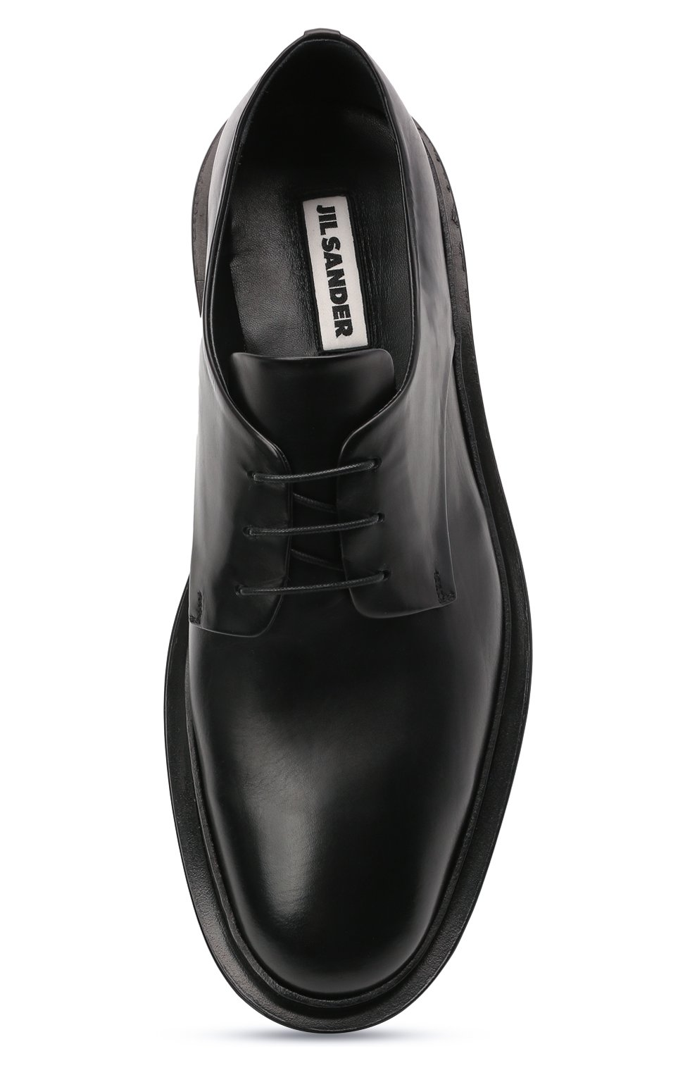 Мужские кожаные дерби JIL SANDER черного цвета, арт. JI36501A-13110   Фото 5 (Материал внутренний: Натуральная кожа; Стили: Классический)