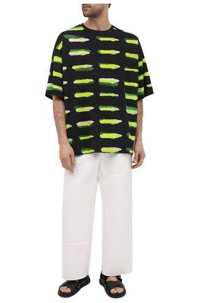 Мужская хлопковая футболка DRIES VAN NOTEN черного цвета, арт. 211-21158-2601 | Фото 2