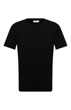 Мужская хлопковая футболка DRIES VAN NOTEN черного цвета, арт. 211-21148-2600 | Фото 1 (Принт: Без принта; Стили: Кэжуэл; Длина (для топов): Стандартные; Рукава: Короткие; Материал внешний: Хлопок)