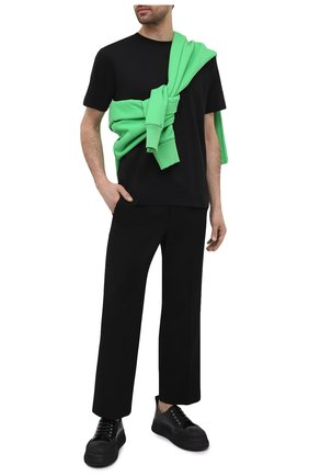 Мужская хлопковая футболка DRIES VAN NOTEN черного цвета, арт. 211-21148-2600 | Фото 2