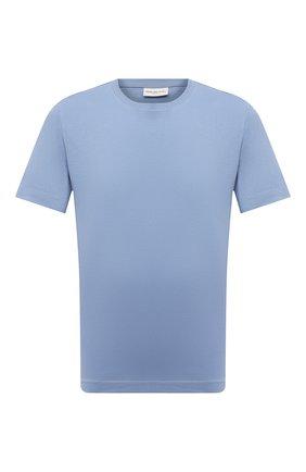 Мужская хлопковая футболка DRIES VAN NOTEN голубого цвета, арт. 211-21148-2600 | Фото 1