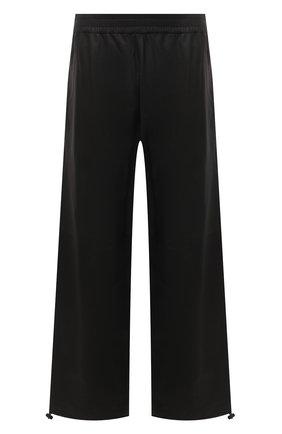 Мужские кожаные брюки BOTTEGA VENETA темно-коричневого цвета, арт. 652882/VKVL0 | Фото 1 (Случай: Повседневный; Стили: Минимализм; Длина (брюки, джинсы): Стандартные)